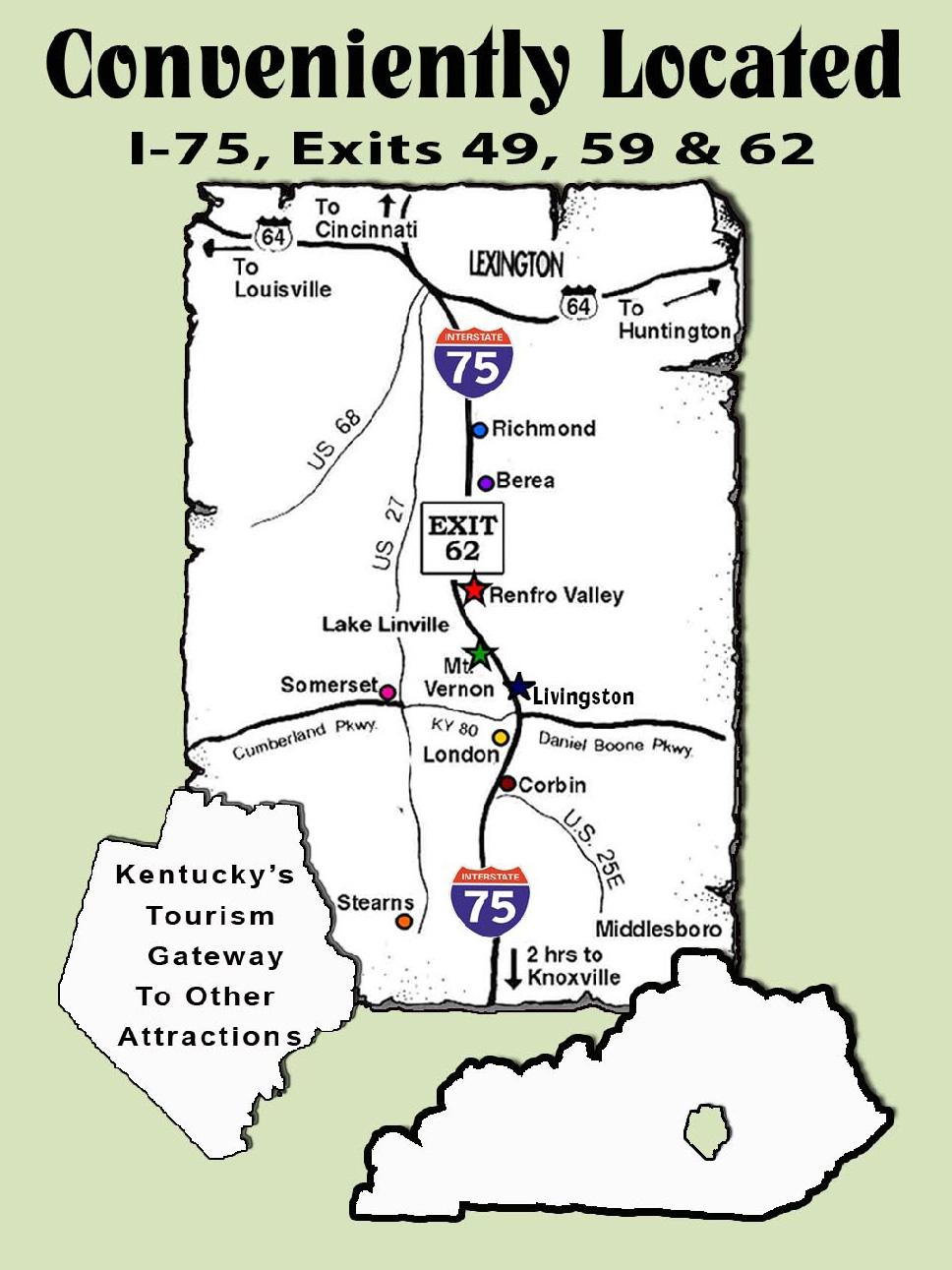 Map « Rockcastle Tourism